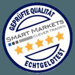 Qualitätssiegel für Broker von Smart Markets - geprüft im Echtgeldtest