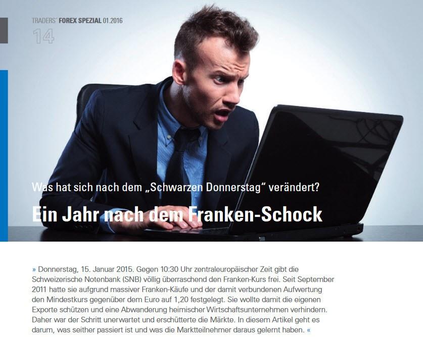 TRADERS Magazin: Ein Jahr nach dem Franken-Schock