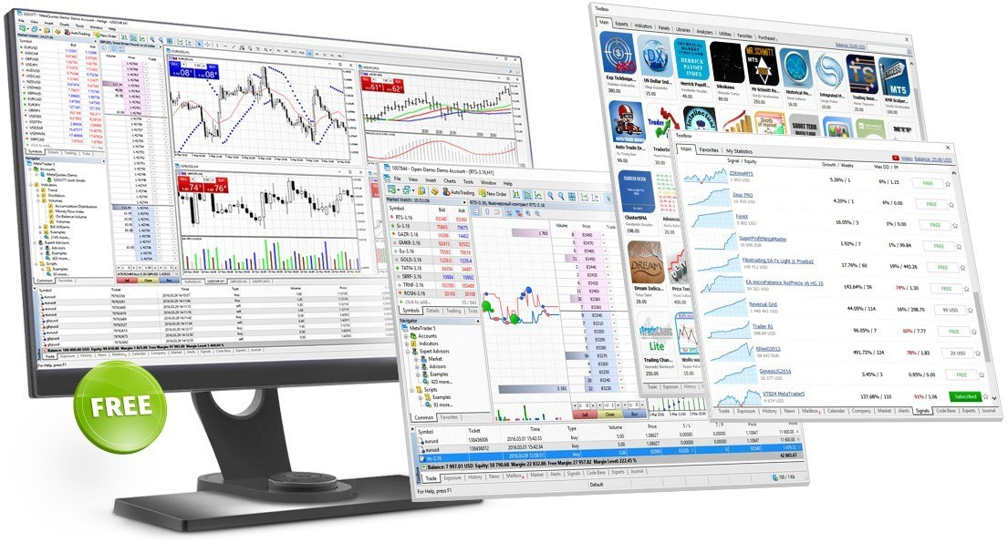 Handelsplattform Metatrader 5 MT5 für den Desktop